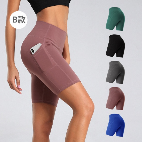 BMbridal New Women Sports Yoga Shorts Ladies' Camouflage Pockets Hip-tightening Running Fitness Yoga Trouser Sport Fitness Shorts_1