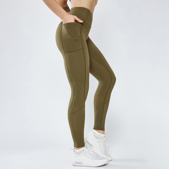 BMbridal 2021 New Women Yoga Pants With Pocket High Waist Sports Gym Wear Leggings Elastic Fitness Lady Overall Full Tights Workout_3