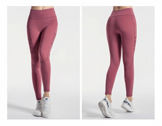 BMbridal Pocket High Waist Yoga Pants Sexy Lady Raising Hips Tight Running Fitness Double Side Brocade Pants High Elasticity_7