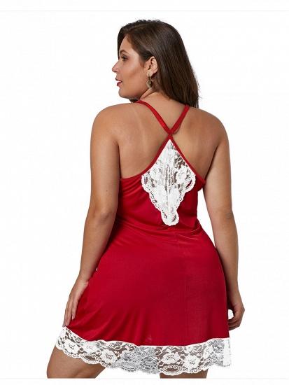 BMbridal Sexy Plus Size Spaghetti Straps Fashion Summer Lace Silk Home Nightwear_4