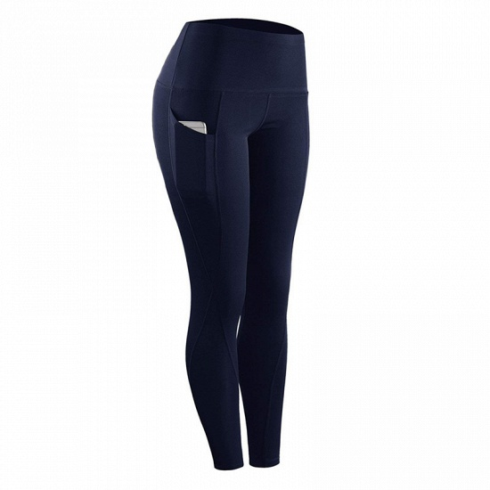 Women Legging With Pocket Workout Yoga Fitness Skinny Tights Gym Sport Stretch Fit Solid Jogging Slim Pants Legging_6