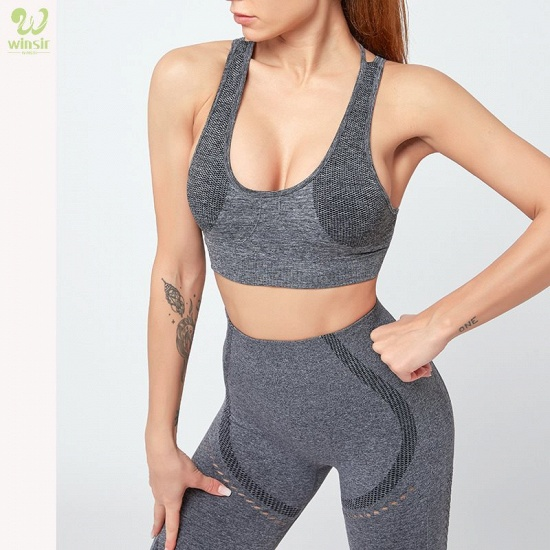 Sexy Sports Suits Seamless Yoga Set Women Fitness Clothing Sportswear Woman Gym Leggings Padded Push-up Sports Bra