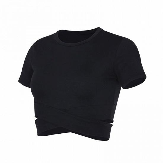 BMbridal New Sport Crop Top Women Fashion Seamless Yoga Shirts High Elastic Breathable Short Sleeve Female Sportswear_14