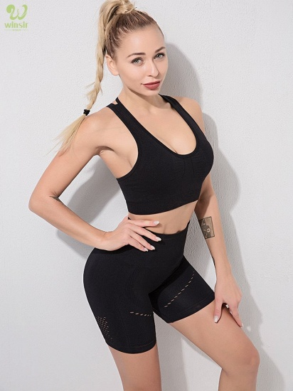 Sexy Sports Suits Seamless Yoga Set Women Fitness Clothing Sportswear Woman Gym Leggings Padded Push-up Sports Bra_9