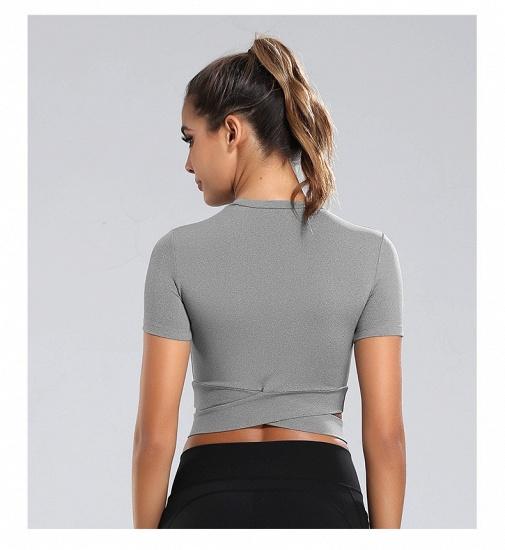 BMbridal New Sport Crop Top Women Fashion Seamless Yoga Shirts High Elastic Breathable Short Sleeve Female Sportswear_8