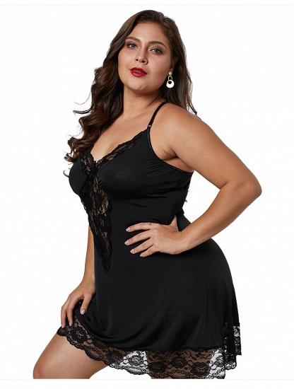 BMbridal Sexy Plus Size Spaghetti Straps Fashion Summer Lace Silk Home Nightwear_3