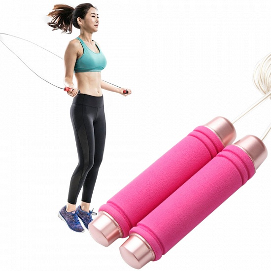 BMbridal Wire Jump Rope Adjustable Length Speed Crossfit Workout Fitness Training Weighted Jump Rope for Handle_5