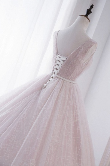 Affordable V-Neck Sleeveless Wedding Dress Lace Appliques Bedaings Long Bridal Gowns On Sale_7