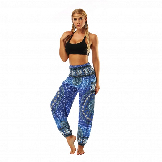 BMbridal Newest Flora Printed Designed Latern Pockets Women Yoga Pants Outdoor Indoor Gym Sports Exercises Women Lose Athletic Trousers_3