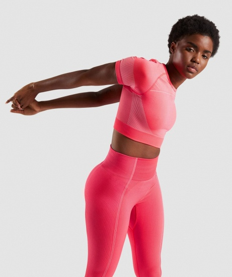 Sexy Women 2PCS Yoga Set Female Short Sleeves Top Fitness Shorts Running Gym Sports Clothes Suit_18