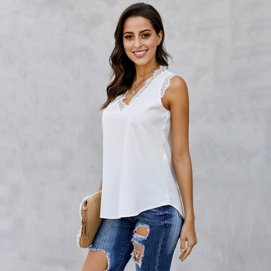 BMbridal Women Vest Summer Wear Casual Lace Sleeveless Top_3
