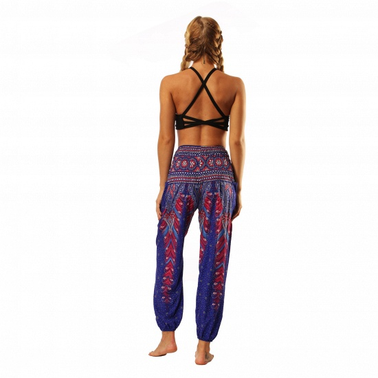BMbridal Newest Flora Printed Designed Latern Pockets Women Yoga Pants Outdoor Indoor Gym Sports Exercises Women Lose Athletic Trousers_2