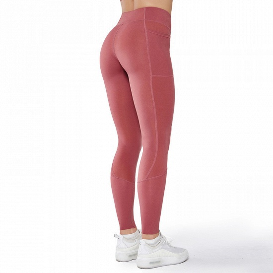 BMbridal 2021 New Women Yoga Pants With Pocket High Waist Sports Gym Wear Leggings Elastic Fitness Lady Overall Full Tights Workout_4