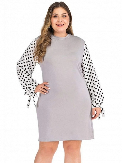 Casual Polka Dot Comfortable Maternity Dress with Long-sleeves