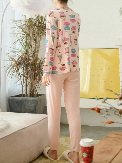 BMbridal Lovely Long Sleeve Home Wear Modal Two-piece Pajamas with Cartoon Printed_2