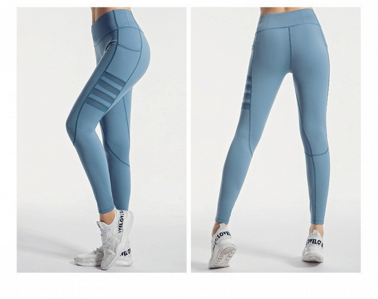 BMbridal Pocket High Waist Yoga Pants Sexy Lady Raising Hips Tight Running Fitness Double Side Brocade Pants High Elasticity_8