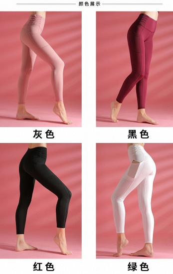 Newest Women Yoga Pants With Pocket High Waist Sports Gym Wear Leggings Fitness Girls Running Exercise Outfits Free Shipping_9