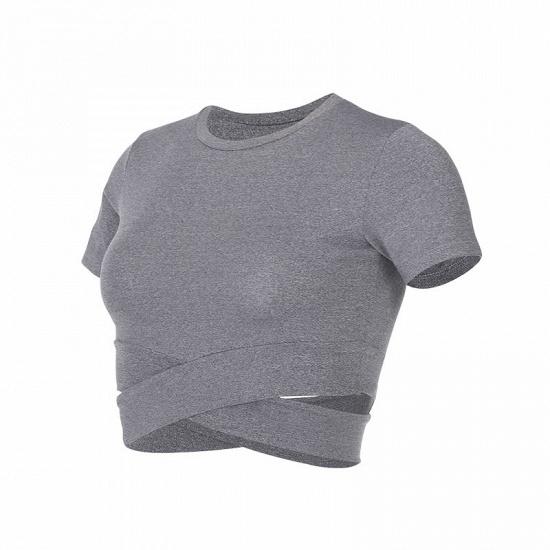 BMbridal New Sport Crop Top Women Fashion Seamless Yoga Shirts High Elastic Breathable Short Sleeve Female Sportswear_13