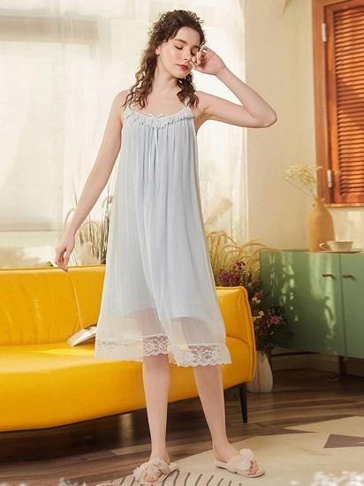 BMbridal Lovely Girls' Round Neck Sleeveless Cotton Pajamas_2