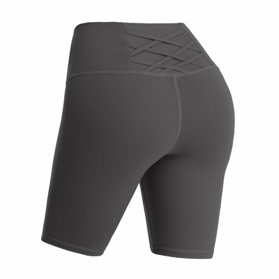 BMbridal Yoga Shorts Women Sports Wear Fitness Short Pants Skinny Female Push Up Gym Clothing Solid Color Elastic Breathable Flex_5