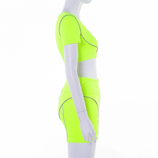 Women Tracksuit Solid Yoga Set Patchwork Running Fitness Jogging Bra Leggings Sports Suit Gym Sportswear Workout Clothes_13