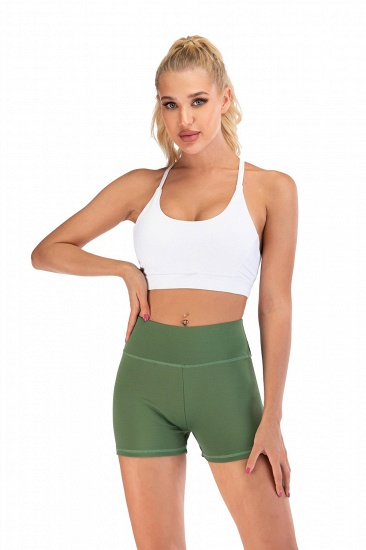BMbridal Women Casual Fitness Yoga Shorts High Waist Running Gym Stretch Sports Short Pants_11