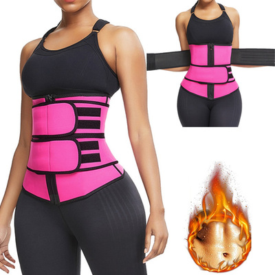 Body Shaper Wrap Belt Waist Trainer Cincher Corset Fitness Sweat Belt Girdle Shapewear