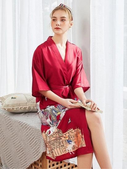 BMbridal Womens Robe Knit Bathrobe Long Sleepwear Loungewear Lightweight Kimono Robes_3
