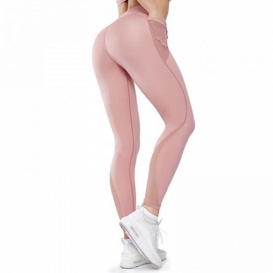 Patchwork Women Yoga Pants With Pocket High Waist Sports Gym Wear Leggings Fitness Girls Running Exercise Outfits_1