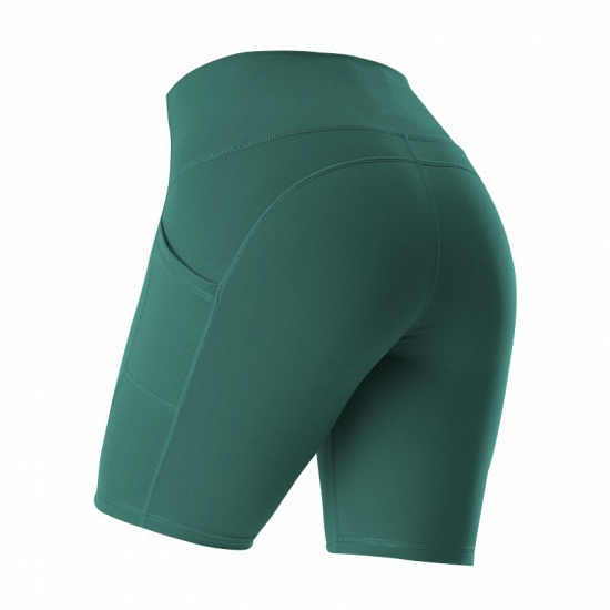 New Women Sports Yoga Shorts Ladies' Camouflage Pockets Hip-tightening Running Fitness Yoga Trouser Sport Fitness Shorts_7