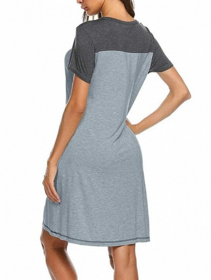 Women's Casual A-Line Maternity & Breastfeeding Dress with Short Sleeves_3