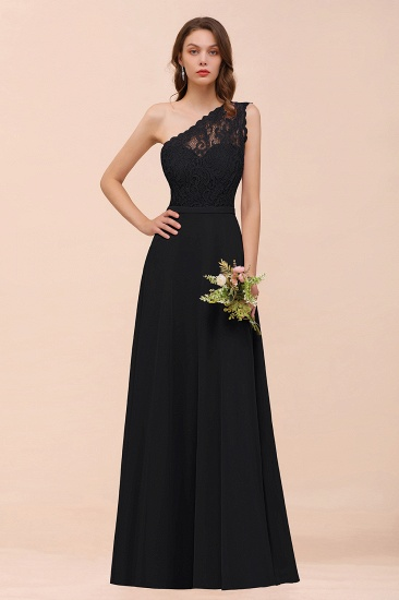New Arrival Dusty Rose One Shoulder Lace Long Bridesmaid Dress_29