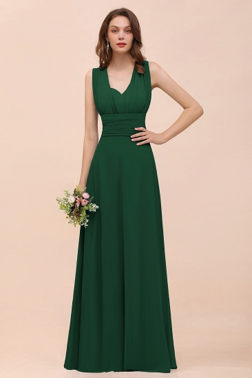 New Arrival Dusty Blue Ruched Long Convertible Bridesmaid Dresses_31