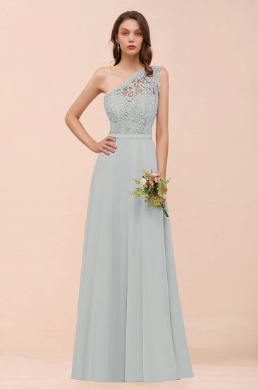 New Arrival Dusty Rose One Shoulder Lace Long Bridesmaid Dress_38