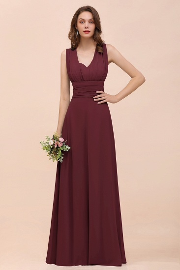 New Arrival Dusty Blue Ruched Long Convertible Bridesmaid Dresses_10