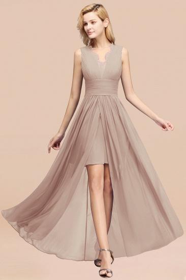 BMbridal Elegant Chiffon Lace Jewel Sleeveless Bridesmaid Dress with Ruffle_16