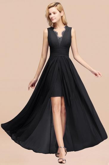 BMbridal Elegant Chiffon Lace Jewel Sleeveless Bridesmaid Dress with Ruffle_29