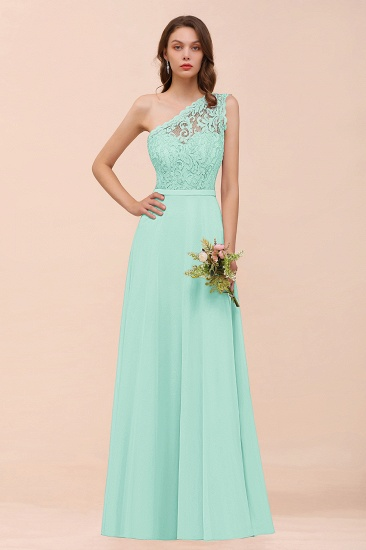 New Arrival Dusty Rose One Shoulder Lace Long Bridesmaid Dress_36