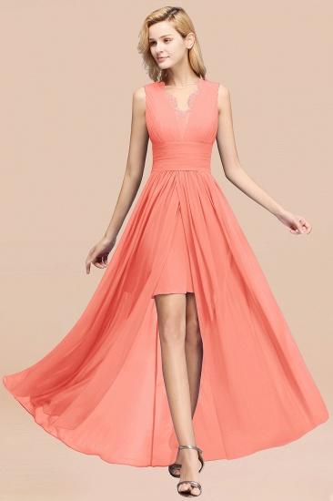 BMbridal Elegant Chiffon Lace Jewel Sleeveless Bridesmaid Dress with Ruffle_45
