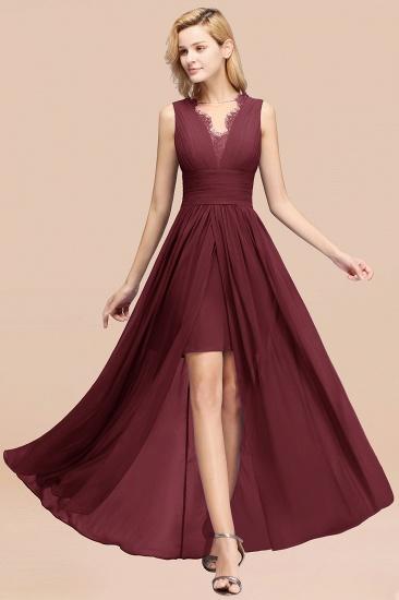 BMbridal Elegant Chiffon Lace Jewel Sleeveless Bridesmaid Dress with Ruffle_10