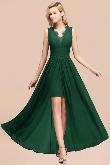 BMbridal Elegant Chiffon Lace Jewel Sleeveless Bridesmaid Dress with Ruffle_31