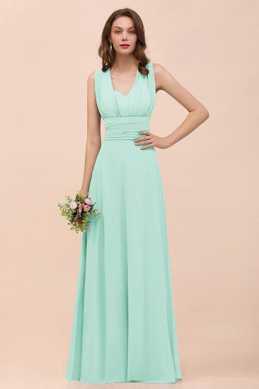 New Arrival Dusty Blue Ruched Long Convertible Bridesmaid Dresses_36