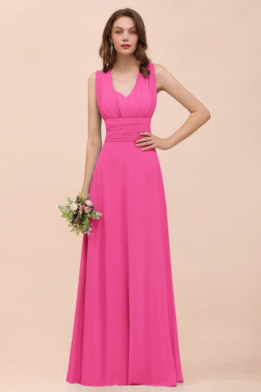 New Arrival Dusty Blue Ruched Long Convertible Bridesmaid Dresses_9