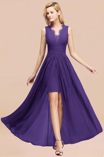 BMbridal Elegant Chiffon Lace Jewel Sleeveless Bridesmaid Dress with Ruffle_19