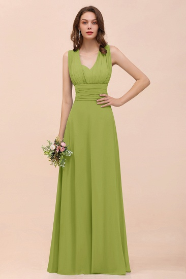 New Arrival Dusty Blue Ruched Long Convertible Bridesmaid Dresses_34