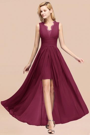 BMbridal Elegant Chiffon Lace Jewel Sleeveless Bridesmaid Dress with Ruffle_44