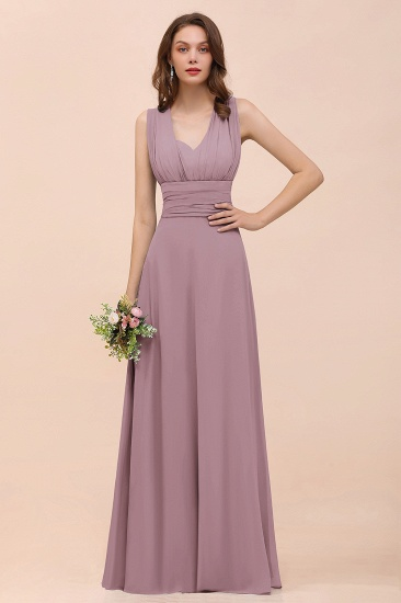 New Arrival Dusty Blue Ruched Long Convertible Bridesmaid Dresses_43