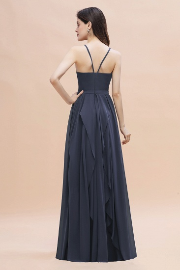 BMbridal Affordable Jewel Sleeveless Stormy Chiffon Bridesmaid Dress with Ruffles Online_3