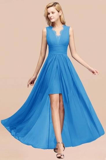 BMbridal Elegant Chiffon Lace Jewel Sleeveless Bridesmaid Dress with Ruffle_25