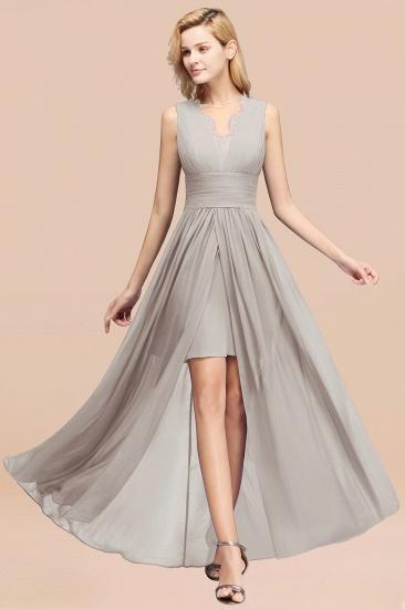 BMbridal Elegant Chiffon Lace Jewel Sleeveless Bridesmaid Dress with Ruffle_30